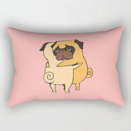 Pug Hugs Rectangular Pillow