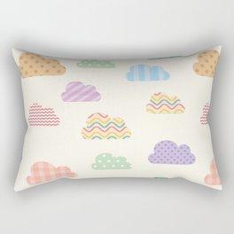 Colorful clouds Rectangular Pillow