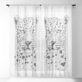 Lovely leopard Sheer Curtain