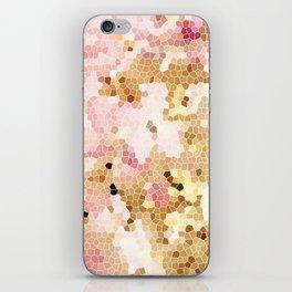 Flower Mosaic Millennial Pink and Golden Yellow Abstract Art | Honey Comb | Geometric iPhone Skin
