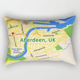 Map of Aberdeen, UK Rectangular Pillow