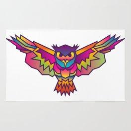 Owl | Geometric Colorful Low Poly Animal Set Rug