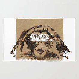 Emotional monkey Rug