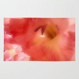 Soft Red Gladiola Rug