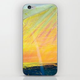 Abstract sunset - yellow, orange and blue - iPhone Skin