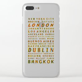 Travel World Cities Clear iPhone Case