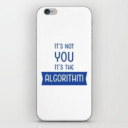 Social Media Algorithm Blues iPhone Skin