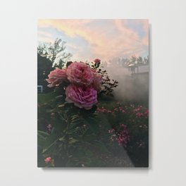 Foggy Pink Flower Metal Print