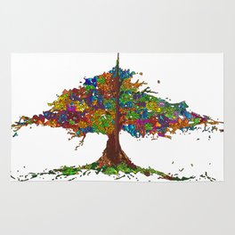 The Stained Glass Tree Rug