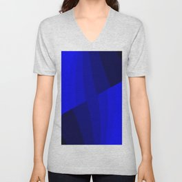 Just Blue #decor #society6 Unisex V-Neck