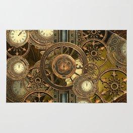 Steampunk, awesome clocks Rug