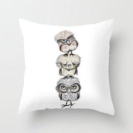 Owl Totæm Throw Pillow