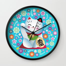 My lucky Kitty Wall Clock