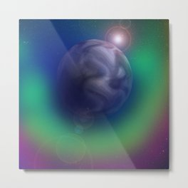 Auric Planet Metal Print