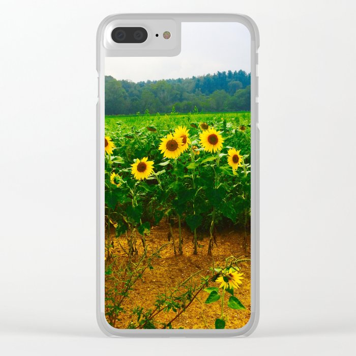 Sunflower Season Clear iPhone Case