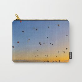 Colorful hot air balloons against blue sky at Cappadocia Turkey Carry-All Pouch