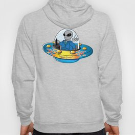 "Alien Spaceship ""Warp Speed"" Hoody"