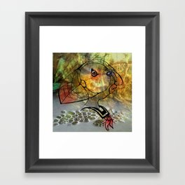 Stay Puffin Framed Art Print