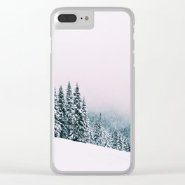 Angled Snow Clear iPhone Case