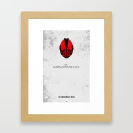 Minimalist Print - Bane Framed Art Print