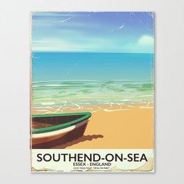 Southend-on-Sea Vintage travel poster Canvas Print