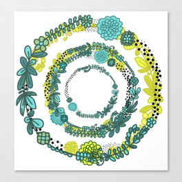 Leaves and Rings Canvas Print