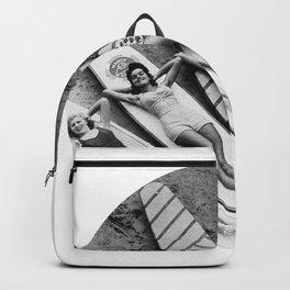 Vintage Girls on Surfboards Backpack