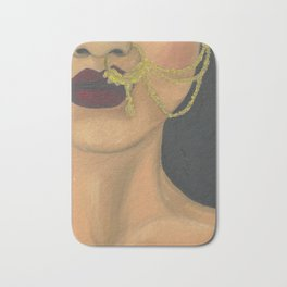 Woman With a Nose Ring Bath Mat