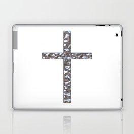 Chrome Crucifix Solid Laptop & iPad Skin