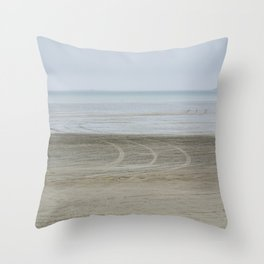 Airport on the beach Throw Pillow