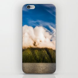 Amazing cloud formation at Lake Manapouri in New Zealand iPhone Skin
