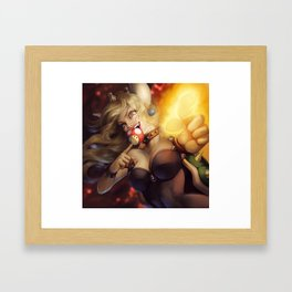 Bowsette Framed Art Print