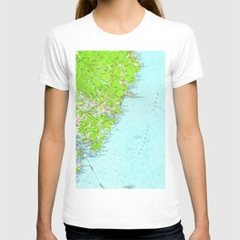 Vintage Map of York Maine (1956) T-shirt