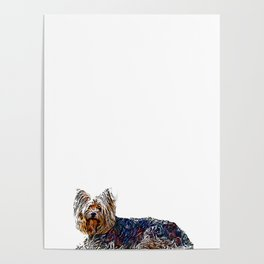 Yorkshire Terrier Dog - Digital Art Poster