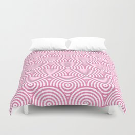 Scales - Pink & White #234 Duvet Cover