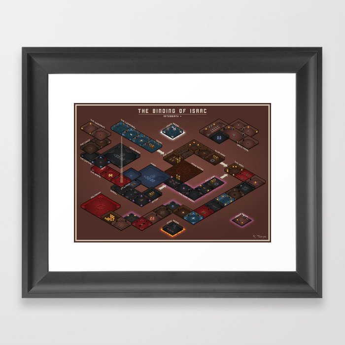 Floor Plan Framed Art Print By