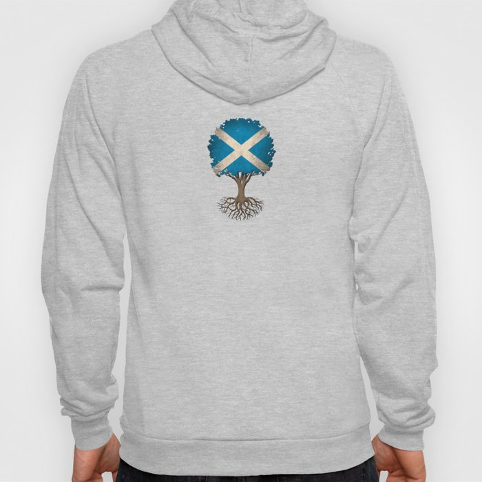 Vintage Tree of Life with Flag of Scotland Hoody