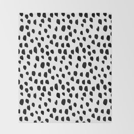 Hand drawn drops and dots on white - Mix & Match with Simplicty of life Throw Blanket