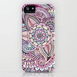 Henna Style Pattern iPhone Case