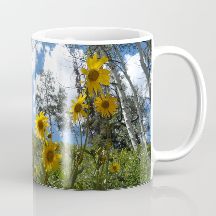 Flowers on the Mountainside Coffee Mug
