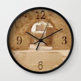 Sand Castle Inside Wall Clock