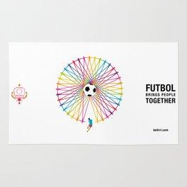 Futbol Brings People Together Rug