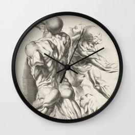 Anatomical study of three figures, 17th Century Wall Clock