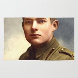 Ernest Hemingway, Writer Rug