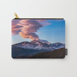 Fire on the Mountain - Sunrise Illuminates Cloud Over Longs Peak in Colorado Carry-All Pouch