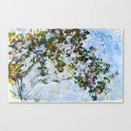 """Claude Monet """"The Rose Bush"""" Canvas Print"""