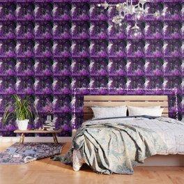 Trees Purple Moss Wallpaper