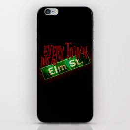 Every Town Elm Street iPhone Skin