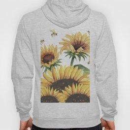 Sunflowers and Honey Bees Hoody