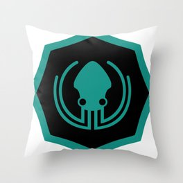 gitkraken developer github occult sigil of the gateway octopus satanism programmer Throw Pillow